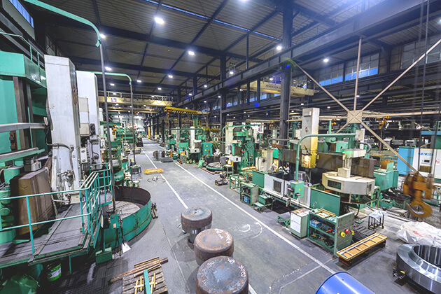 Large products machining area