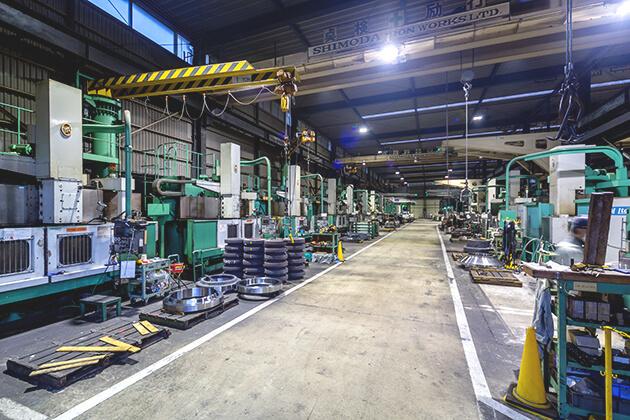 Medium products machining area